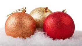 发光球的圣诞节 免版税库存图片