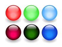 发光球的玻璃 免版税图库摄影