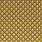 发光的与光滑的被环绕的边缘-方形的背景的金四角锥 免版税库存照片