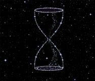 发光的传染媒介滴漏由星制成 向量例证