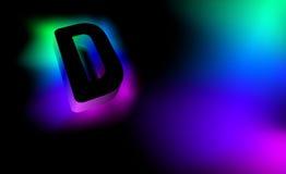 发光的信件D 免版税库存照片