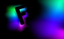 发光的信件F 库存照片