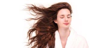 发光的健康头发 库存照片