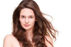 发光的健康头发 免版税库存照片