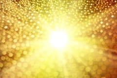 发光的光和bokeh 免版税库存照片