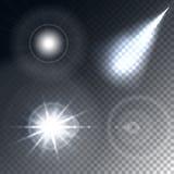 发光的光线影响 库存照片
