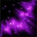 发光的光芒和星 库存例证