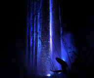发光的具体瀑布 图库摄影