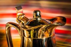 发光的咖啡罐 免版税图库摄影