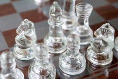 发光的国际象棋棋局 免版税库存图片