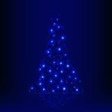 发光的圣诞树 免版税库存照片