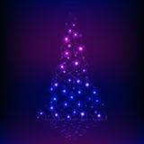 发光的圣诞树 免版税库存图片