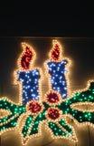 发光的圣诞节蜡烛 免版税库存图片