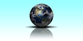 发光的地球 库存照片