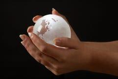 发光的地球 图库摄影