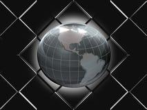发光的地球 免版税库存图片