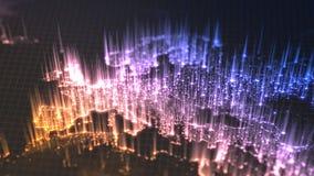 发光的城市和人口与上升的密度区域从他们排行 欧罗巴看法  3d例证 向量例证