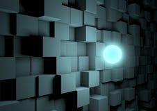 发光的多维数据集观察范围 库存照片