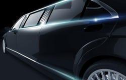黑发光的大型高级轿车 免版税库存照片