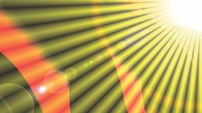 发光的太阳光芒背景太阳镶有钻石的旭日形首饰的样式黄色光芒夏天背景太阳发出光线背景普遍的光芒星 免版税库存图片