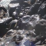 发光的岩石 免版税库存照片