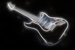 发光的抽象吉他 免版税库存照片