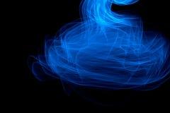发光的摘要弯曲的蓝线 库存图片