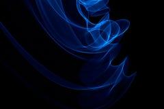 发光的摘要弯曲的蓝线 图库摄影
