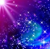 发光的星形 库存例证