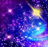 发光的星形 向量例证
