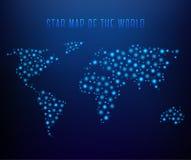 发光的映射世界 免版税库存图片
