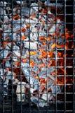 发光的木炭热 库存图片