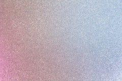 发光的桃红色和蓝色银色闪烁 库存照片