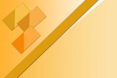 发光的橙色rectanles, abstrack背景 免版税库存图片