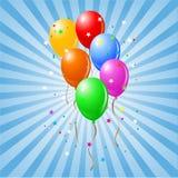 发光的气球 图库摄影