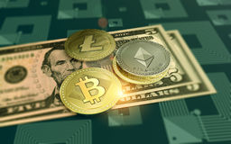 发光的波纹隐藏货币背景 免版税库存图片