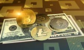 发光的波纹隐藏货币背景 库存照片