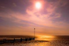 发光的海滩 库存图片