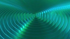 发光的深蓝卷,loopable 3D动画 皇族释放例证