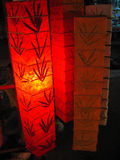 发光的灯笼纸张 免版税库存图片