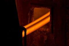发光的热钢 免版税库存照片