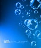 发光的现代背景的质量泡影液体背景 库存图片