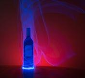 发光的瓶 免版税库存照片