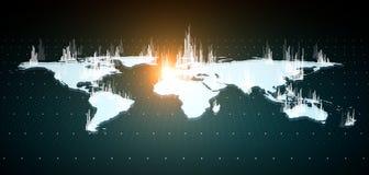 发光的白色财政地图 皇族释放例证