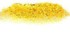 发光的粉末金子黄色对象 库存图片
