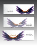 发光的紫色横幅 免版税库存图片