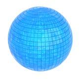 发光的蓝色球形, 3D 免版税库存照片