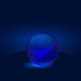 发光的蓝色球抽象 库存照片