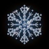 发光的金刚石圣诞节雪花 免版税图库摄影