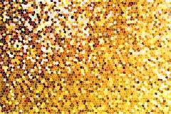 发光的金映象点加点了背景,金黄波纹纹理,黄色闪烁墙纸, 免版税图库摄影